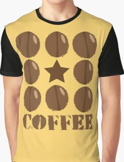 Coffee beans funky coffee design Graphic T-Shirt