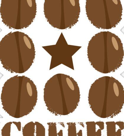 Coffee beans funky coffee design Sticker