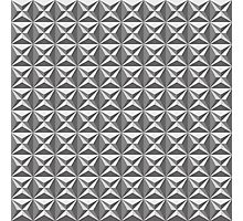 Seamless black and white star tile pattern Photographic Print