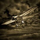 An old style digital painting  of the Blackburn Monoplane type D 1912 by Dennis Melling