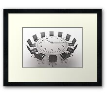 Time Up Framed Print