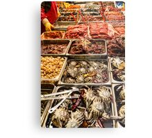 Fresh Meat and Fish Marketplace Metal Print