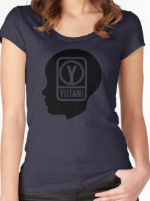 YUTANI Corporate Logo (Head version) [Black] Women's Fitted Scoop T-Shirt