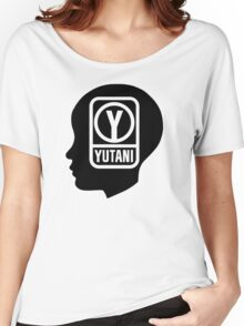YUTANI Corporate Logo (Head version) [Black] Women's Relaxed Fit T-Shirt