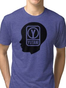 YUTANI Corporate Logo (Head version) [Black] Tri-blend T-Shirt