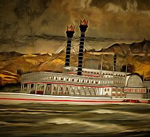 The Robert E Lee Paddle Wheeler by Dennis Melling