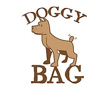 Doggy bag dog dogs with cute puppy Photographic Print
