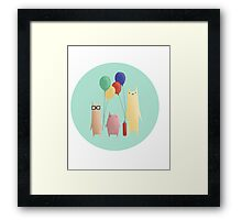Kittens and their balloons Framed Print