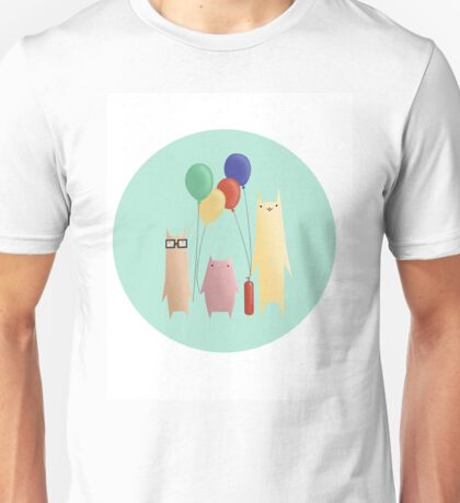 Kittens and their balloons Unisex T-Shirt