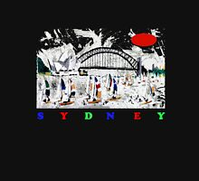 Sydney harbour and yachts abstract design Unisex T-Shirt