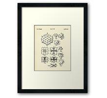 Rubik's Cube-1983 Framed Print