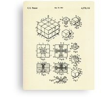 Rubik's Cube-1983 Canvas Print