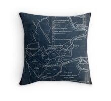 189 Map of the Loup-Piney Divide coal lands in Fayette and Raleigh cos West Virginia Inverted Throw Pillow