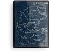 189 Map of the Loup-Piney Divide coal lands in Fayette and Raleigh cos West Virginia Inverted Metal Print