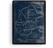189 Map of the Loup-Piney Divide coal lands in Fayette and Raleigh cos West Virginia Inverted Canvas Print