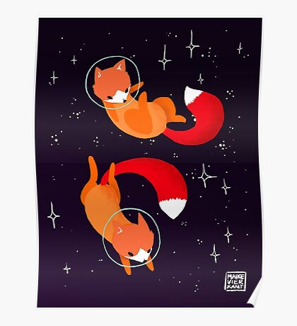 Space Foxes Poster