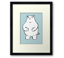 Shy Bear. Framed Print