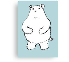 Shy Bear. Canvas Print