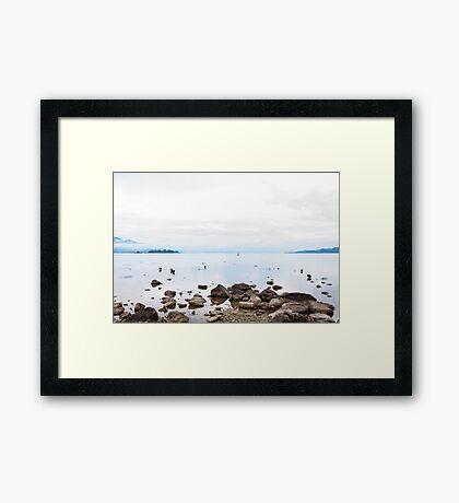 bright lake Framed Print