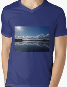Mirror Image at St Helens Mens V-Neck T-Shirt