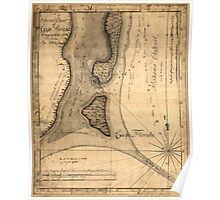 American Revolutionary War Era Maps 1750-1786 493 Charts of the coast of Florida Poster