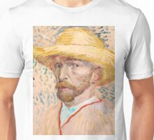 1887-Vincent van Gogh-Self-portrait-32,9x40,8 Unisex T-Shirt