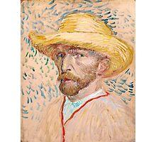 1887-Vincent van Gogh-Self-portrait-32,9x40,8 Photographic Print