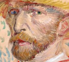 1887-Vincent van Gogh-Self-portrait-32,9x40,8 Sticker