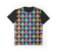 Rainbow Daruma Graphic T-Shirt