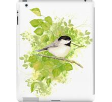 Cute Little Black-Capped Chickadee Watercolor iPad Case/Skin
