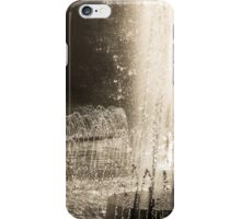 Brilliant Silver Fountains, Dancing in the Sunshine iPhone Case/Skin