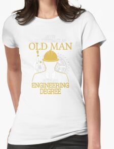 Never Underestimate An Withan Engineering Womens Fitted T-Shirt