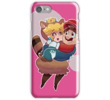 Tanooki Peach and Mario iPhone Case/Skin