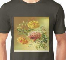 Jasmine Dahlia Vintage Flowers Unisex T-Shirt