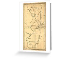 American Revolutionary War Era Maps 1750-1786 619 New York & New Jersey commissioners line from 410 on Hudson's River taken in 1769 Greeting Card