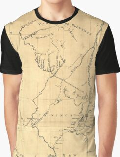American Revolutionary War Era Maps 1750-1786 619 New York & New Jersey commissioners line from 410 on Hudson's River taken in 1769 Graphic T-Shirt