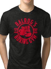 Balrog's boxing gym Tri-blend T-Shirt