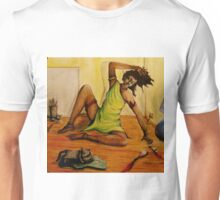in the studio with cat...meditation Unisex T-Shirt