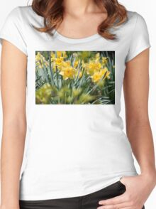 Daffodils Women's Fitted Scoop T-Shirt