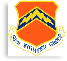 56th Fighter Wing Shield Canvas Print
