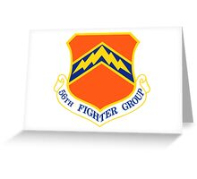 56th Fighter Wing Shield Greeting Card