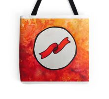 Ribbon on fire Tote Bag