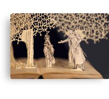 Pride and Prejudice Jane Austen book sculpture Metal Print
