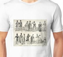 Fall and winter fashions for 1837 & 8 - 1837 - Currier & Ives Unisex T-Shirt