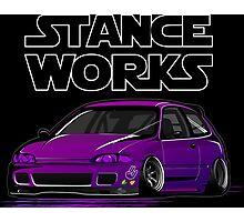 Honda Civic JDM stancework Photographic Print