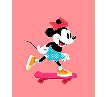 Minnie Mouse Skate Photographic Print