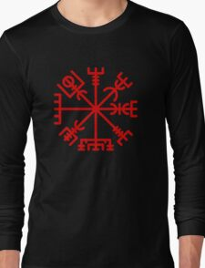 Vegvisir Red Long Sleeve T-Shirt