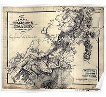 248 Sketch of the battle of Belle Grove or Cedar Creek Wednesday Octr 19th 1864 Poster