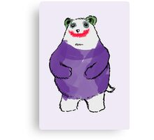 Shy Bear (Joker) Canvas Print