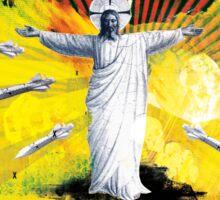 Religion is Dangerous, propaganda stencil street art style Sticker